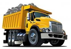 Cartoon dump truck vector 03