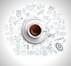 Coffee infographics creative design vector 06