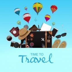 Creative travel template vectors material 06