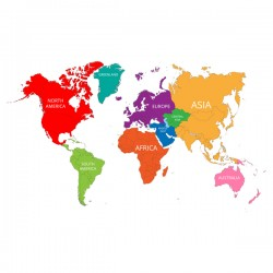 World map with mark vector material