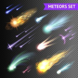 meteorite light effect illustration vector 03
