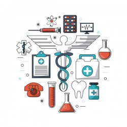 Medical research vector template illustration 05