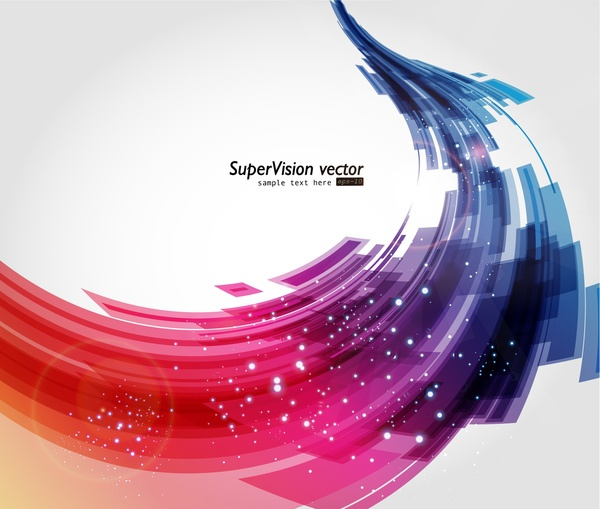 Abstract colored scroll background vector 02