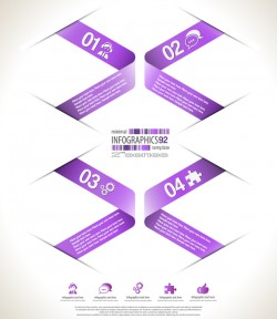 minimal infographic elements template vector 13