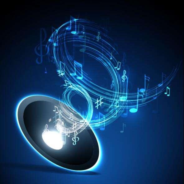 Neon line music background vectors 03