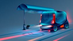 Smart bus concept design vector 03