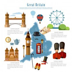 england travel with culture design vector
