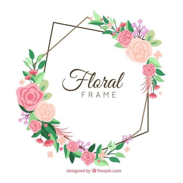 Creative floral frame