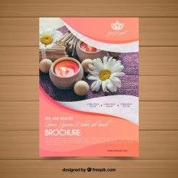 Lovely spa flyer template