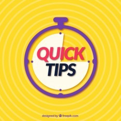 Quick tips concept with flat design