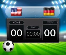 USA VS Germany scoreboard