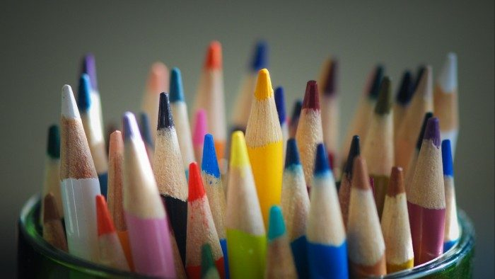 Wallpaper colored pencils