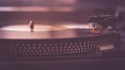 Wallpaper vinyl record player