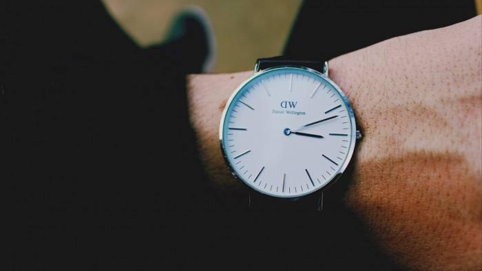 Wallpaper wrist watch