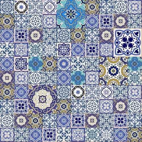 decor pattern design vector set 01