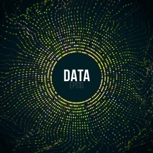 Big data abstract tech background vector 01
