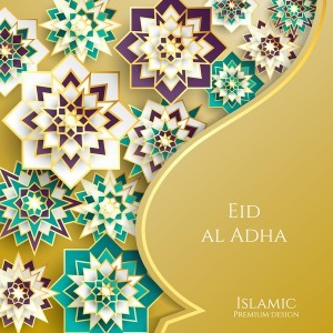Islamic styles decorative background vector 01