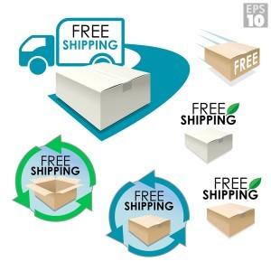 Free shopping box vector
