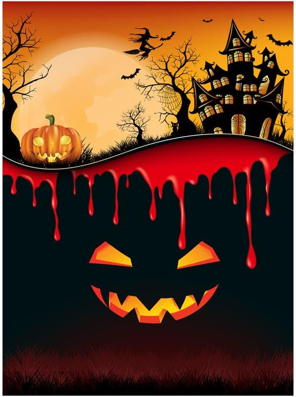 Halloween background creative design vector 02