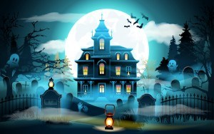 Halloween night background design vector 02