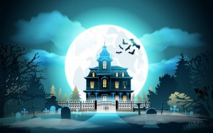 Halloween night background design vector 01