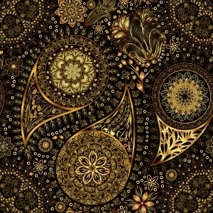 Ornate seamless paisley pattern vectors 06