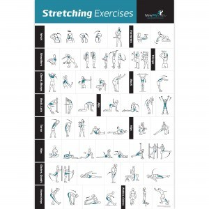 Stretching Exercise Poster Laminated