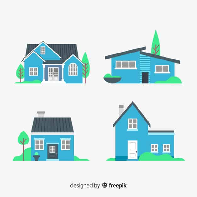 Blue housing collection