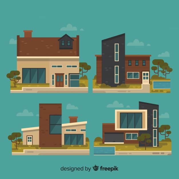 Collection of different houses