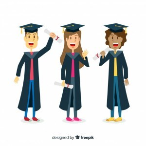 Students with graduation hats