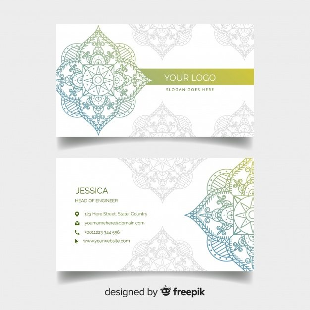 Beautiful business card in mandala style