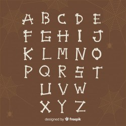Creative halloween alphabet design