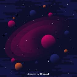 Dark galaxy background