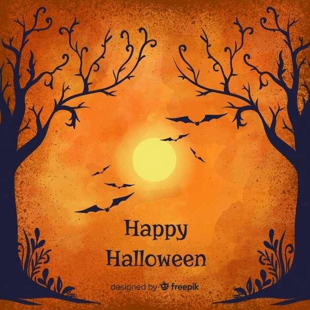 Elegant halloween watercolor background