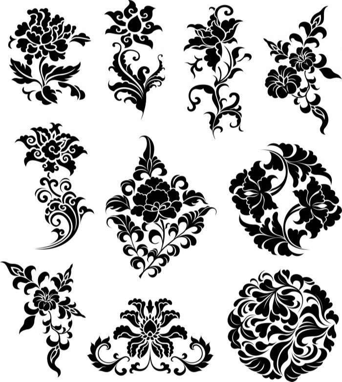 Flowers Ornaments Illustration