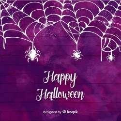 Halloween purple watercolor background