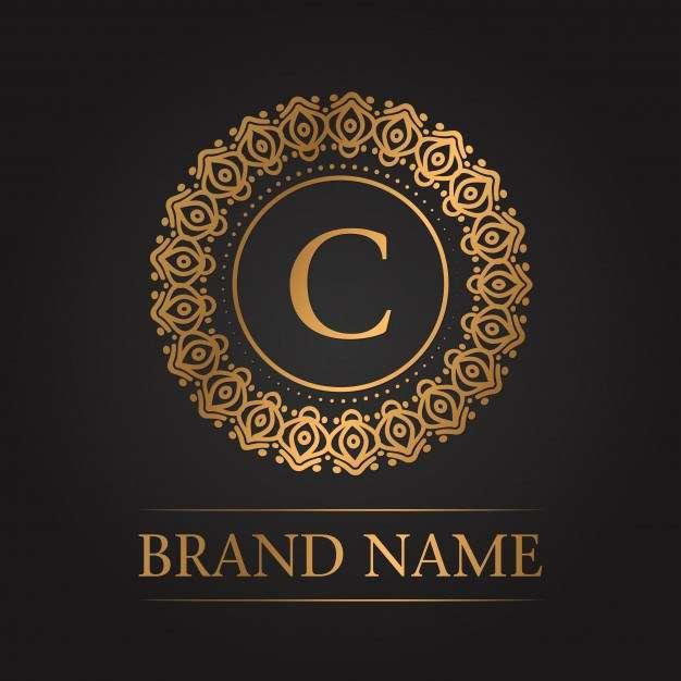Luxury gold template monogram