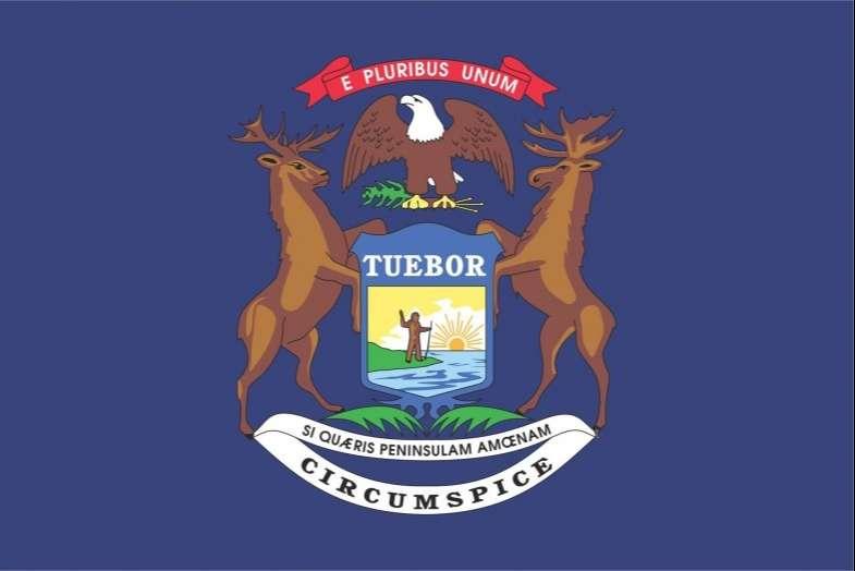 Michigan State Flag&Seal