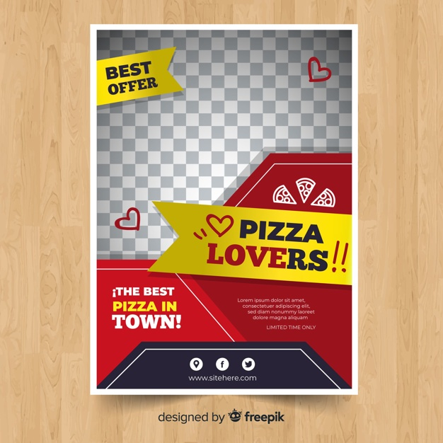 Modern pizza restaurant flyer template