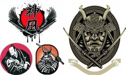 Japan Samurai Free Vector