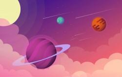 Vector Sci-Fi Space Illustration