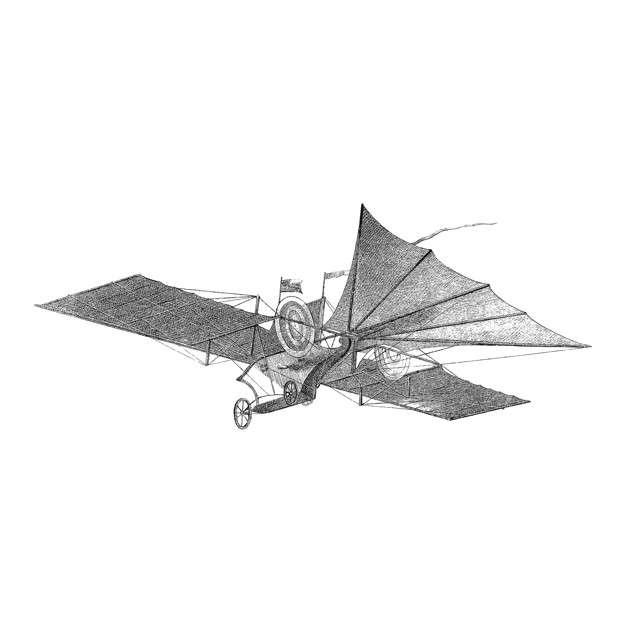 Vintage aircraft illustration