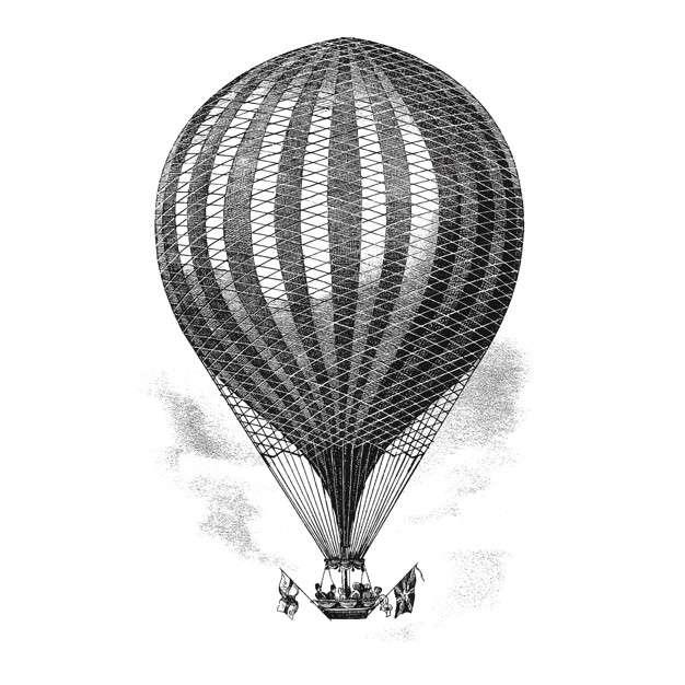 Vintage balloon illustration