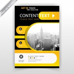 Yellow and dark flyer template