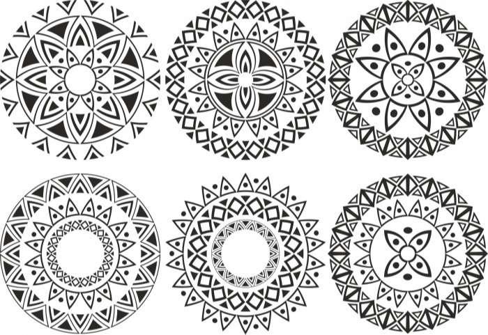 Ornament Circle Vectors Set