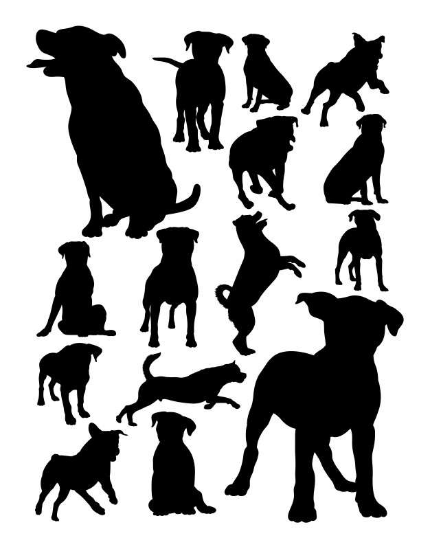 Rottweiler dog animal silhouette