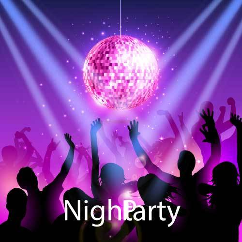 Night party background