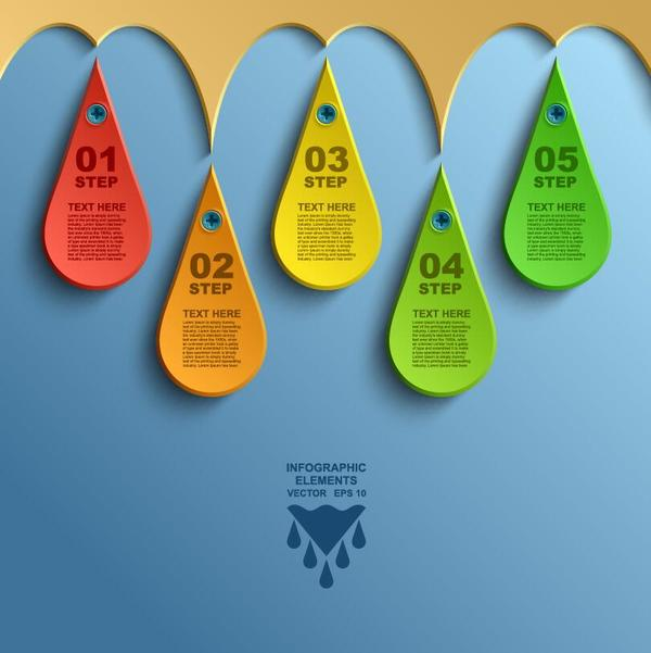 Bookmarks infographic template vectors 01