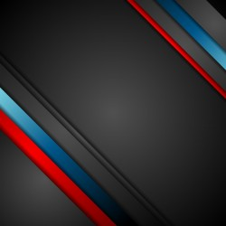 Red black blue corp stripes metal background vector