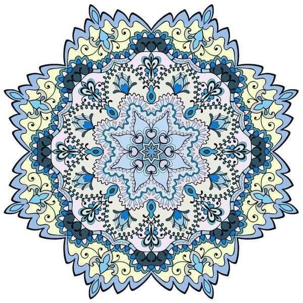 Mandala ornaments pattern vintage vector 01